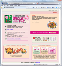 customized website for restaurants